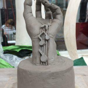 cours de sculpture et modelage Paris atelier d'art atelier artistique terre cuisson terre cuisson sculpture