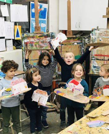 Cours d'art plastique activité manuelle activité extra scolaire activité ludique enfant à paris