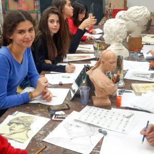 cours de dessin pour adolescent